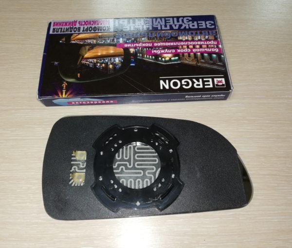 Зеркальный элемент левый HYUNDAI Sonata V NF сферический с обогревом